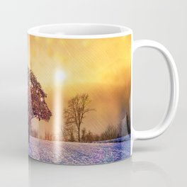 Miracle Tree in Frozen Tundra, Home Decor, Scenic Wall Art, Winter Coffee Mug
