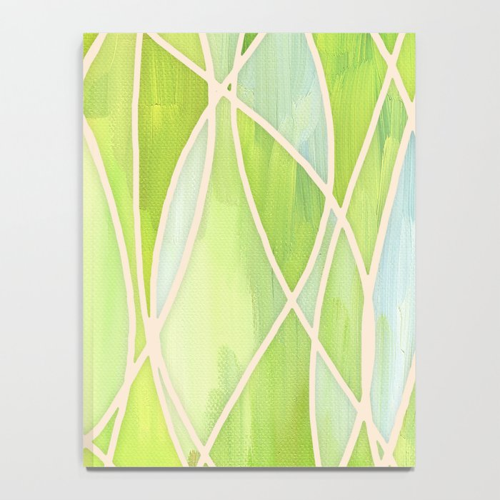 Lemon & Lime Love - abstract painting in yellow & green Notebook
