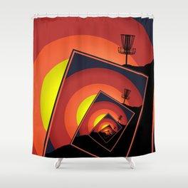 Disc Golf Spinning Basket 4 Shower Curtain