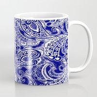 batik Mugs featuring paisley batik by Ariadne