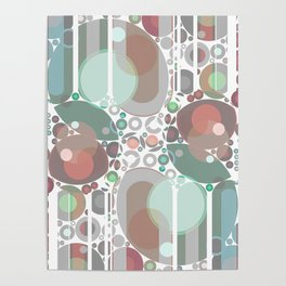 Abstract Pastel Geometric Pattern Poster