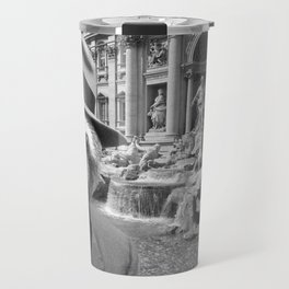 Sloth in Rome in front of Trevi Fountain Travel Mug