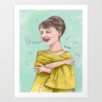sopranos Art Prints featuring The Sopranos: Maria Callas by bananodromo / illustration & photography