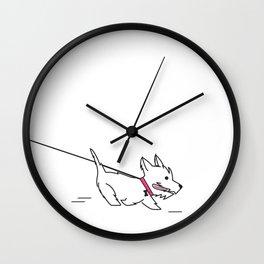 Pet Walk Wall Clock