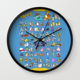 Gotta derp 'em all! - Blue edition Wall Clock