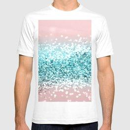 Tropical Summer Vibes Glitter #1 #decor #art #society6 T-shirt