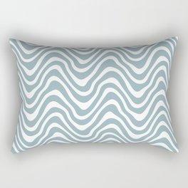Ocean Waves Textile Pattern Rectangular Pillow