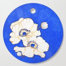 Ultramarine Blue :: Anemones Cutting Board