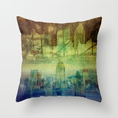 Montreal city Throw Pillow