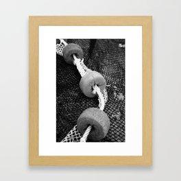 Fishing buoys Framed Art Print
