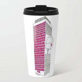 High rise birdhouse. Travel Mug