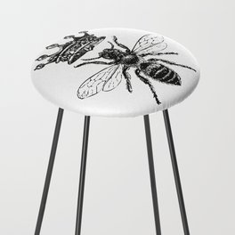 Queen Bee | Black and White Counter Stool