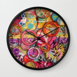 Going Round in Circles Wall Clock