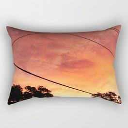 City Sunset Rectangular Pillow