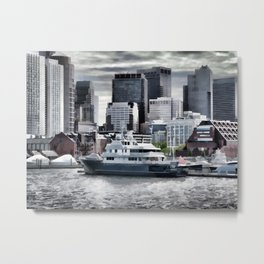 Yachts in Charles River Metal Print