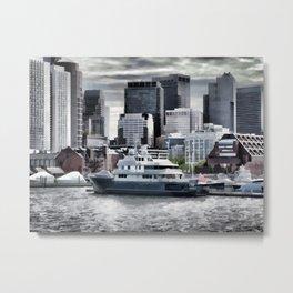 Yachts in Charles River Metal Print