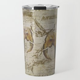 Spirit of Africa Elephant mixed media art Travel Mug