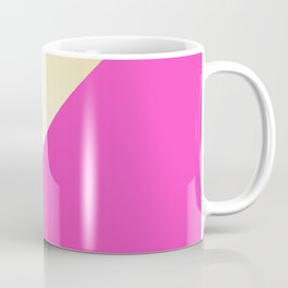 Modern hot pink & gold color block Coffee Mug