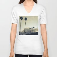 palm V-neck T-shirts featuring palm by cOnNymArshAuS