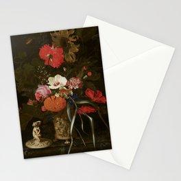 Flowers in an Ornamental Vase - Maria van Oosterwyck (1670-1675) Stationery Cards
