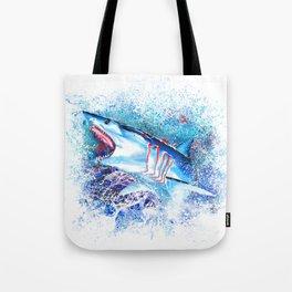 Mako Shark Breaching Tote Bag