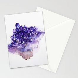 Amethyst Watercolor Stationery Cards