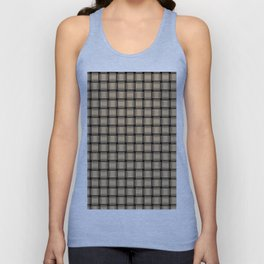 Small Tan Brown Weave Unisex Tank Top