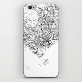 Singapore White Map iPhone Skin