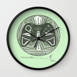 Game On Green Wall Clock
