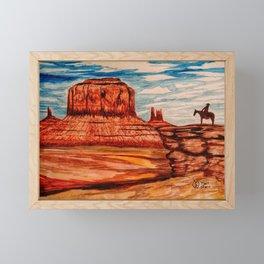 Monument Valley Scenic View  Framed Mini Art Print