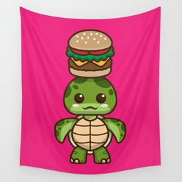 Sunny-chan Loves Burgers Wall Tapestry