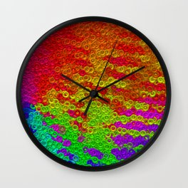 The rings and the colors Wall Clock