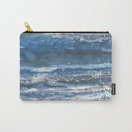 Gray blue abstract watercolor Carry-All Pouch