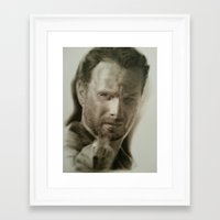rick grimes Framed Art Prints featuring Rick Grimes by David Nash