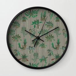 Vanda Basket Plants Ancient Blooms Wall Clock