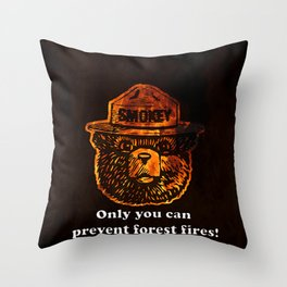 Smokey the Bear Throw Pillow