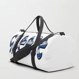 Greece Font with Greek Flag Duffle Bag