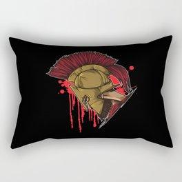 Spartan Warrior | Sparta Head Fighter Spartiate Rectangular Pillow