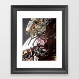 A Stark Reminder Framed Art Print