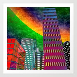 the colored city -2- Art Print