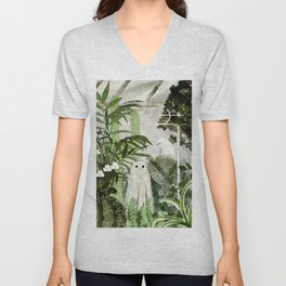 There's A Ghost in the Greenhouse Again Unisex V-Neck