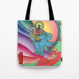 Life of Buddha - 1. Announcement of the imminent birth Tote Bag