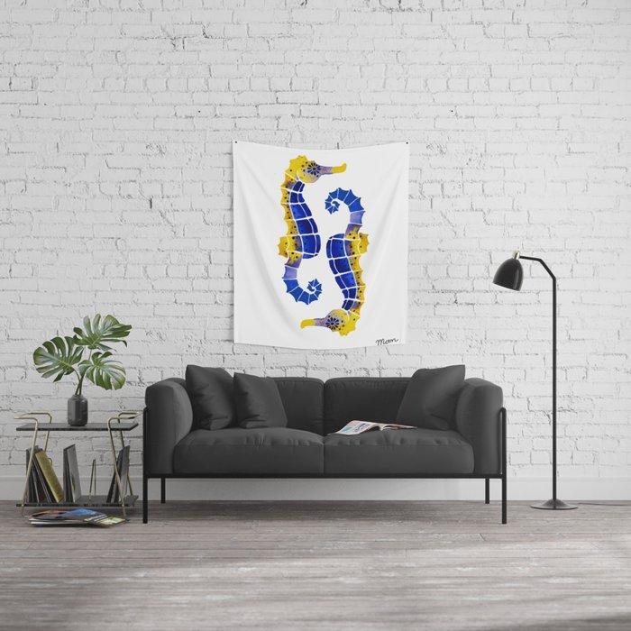 Seahorses Wall Tapestry