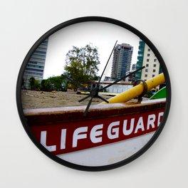 Save Me - English Bay Lifeguard Post Wall Clock