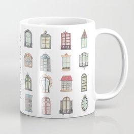 Paris windows watercolor Coffee Mug