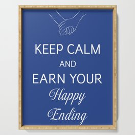 Earn Your Happy Ending Serving Tray