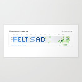 Github - Felt Sad Art Print