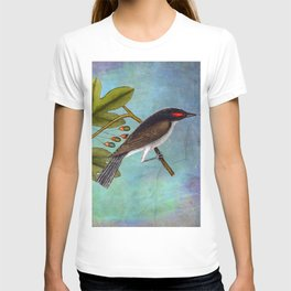 Eastern Kingbird and Sassafrass, Antique Natural History Art Collage T-shirt