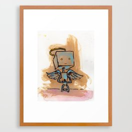Properly Pious Lil' Godbot Framed Art Print