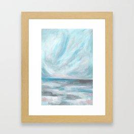Trust - Dark and Moody Seascape Framed Art Print